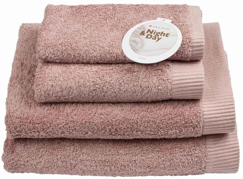 Badelagen badelagen – 100x150cm - 100% bomuld – night & day – rosa