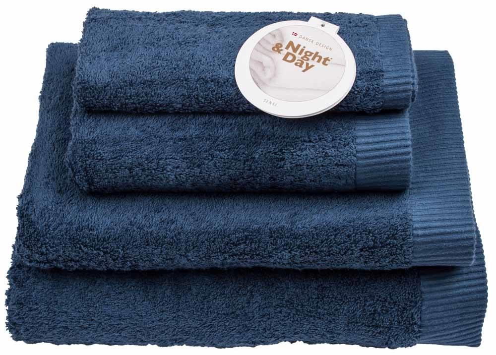 Badelagen badelagen – 100x150cm - 100% bomuld – night & day – mørkeblå