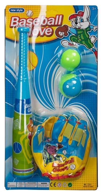 Legetøjs baseball spil - 41 cm bat i let plastik