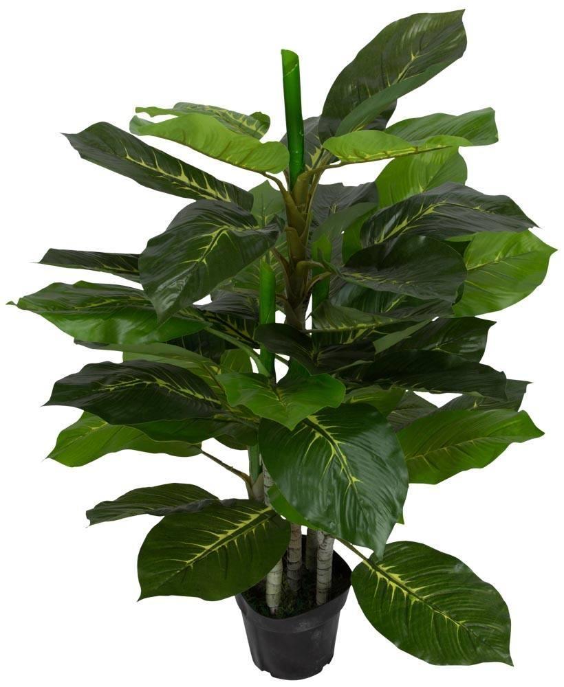 Stor kunstig plante med potte 100 cm h j for Plante 70 cm
