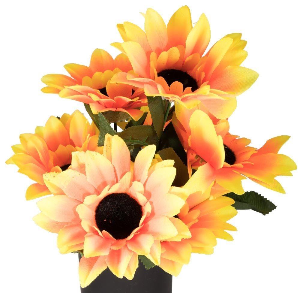 Rørig Stor buket kunstige solsikkeblomster - Flot til dekoration TQ-53