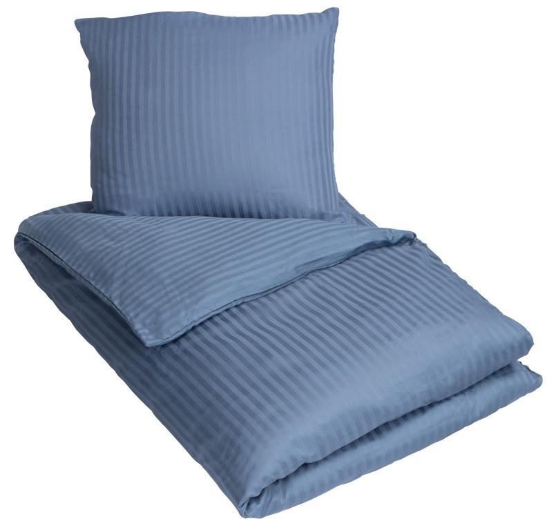 fa1ffed101e Junior sengetøj - Bomuldssatin - Stribet hvid - 100x140 cm