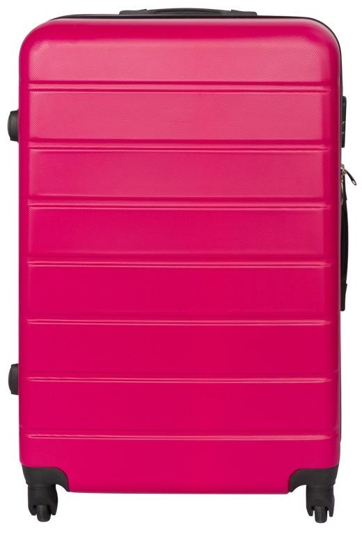 Ubrugte Kuffert i pink - Stor - Hard case letvægts kuffert. GT-68