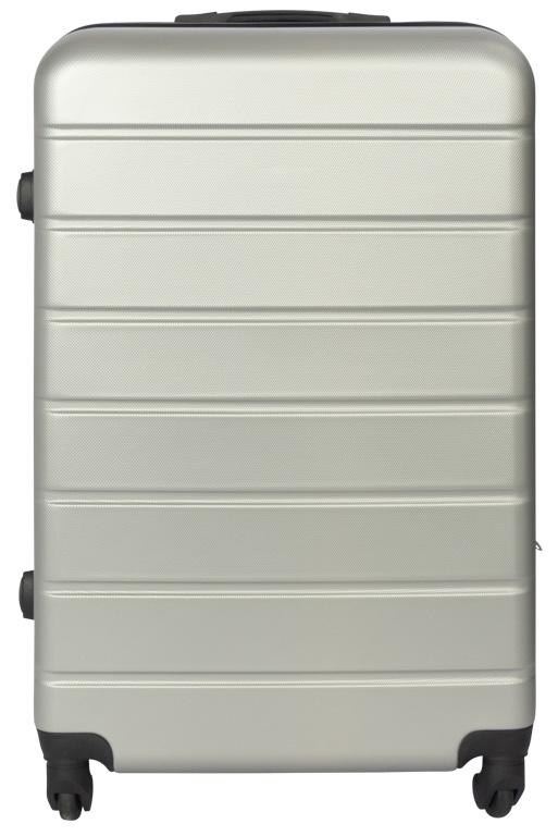 Moderne Kuffert i grå - Stor - Hard case letvægts kuffert. OJ-03