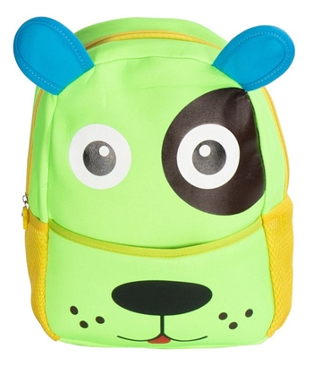 Børne rygsæk - Grøn med hundeansigt