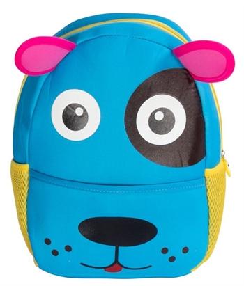 Børne rygsæk - Blå med hundeansigt