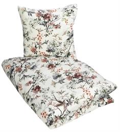 b89798ccf92 Digitalprintet sengetøj - 140x200 cm - Hvidt med blomster - 100%  Bomuldssatin - Excellent By