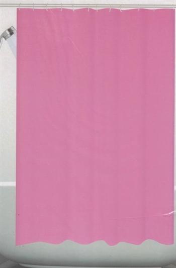 Badeforhæng - Pink- 180x180 cm. - Klar til ophæng