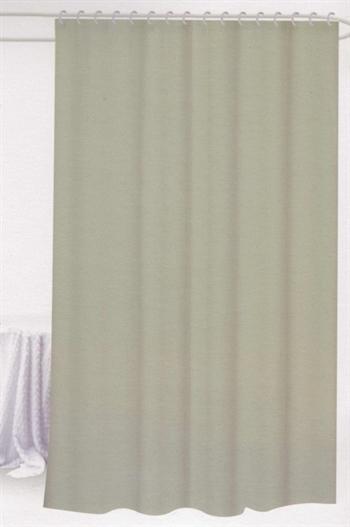 Badeforhæng - Lys grå - 180x180 cm. - Klar til ophæng