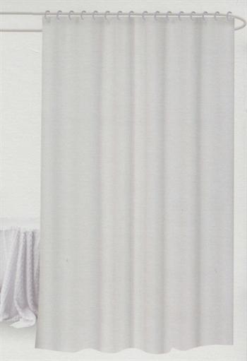 Badeforhæng - hvidt - 180x180 cm. - Klar til ophæng