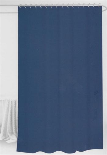 Badeforhæng - Blåt - 180x180 cm. - Klar til ophæng
