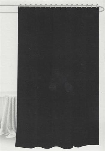Badeforhæng - Sort - 180x180 cm. - Klar til ophæng