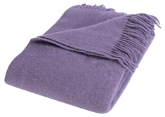 Uldplaid i 100% ny Norsk uld - 130x200cm - Solid lavendel