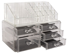 Make up organizer - Med 5 skuffer - Flot make up & smykke box