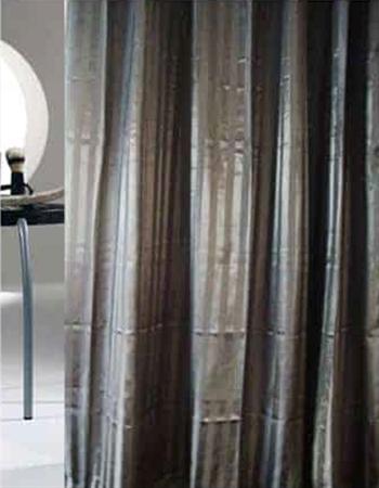 Badeforhæng - Hilton Sort - 180x200 cm. - Klar til ophæng