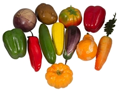 Plastik grøntsager