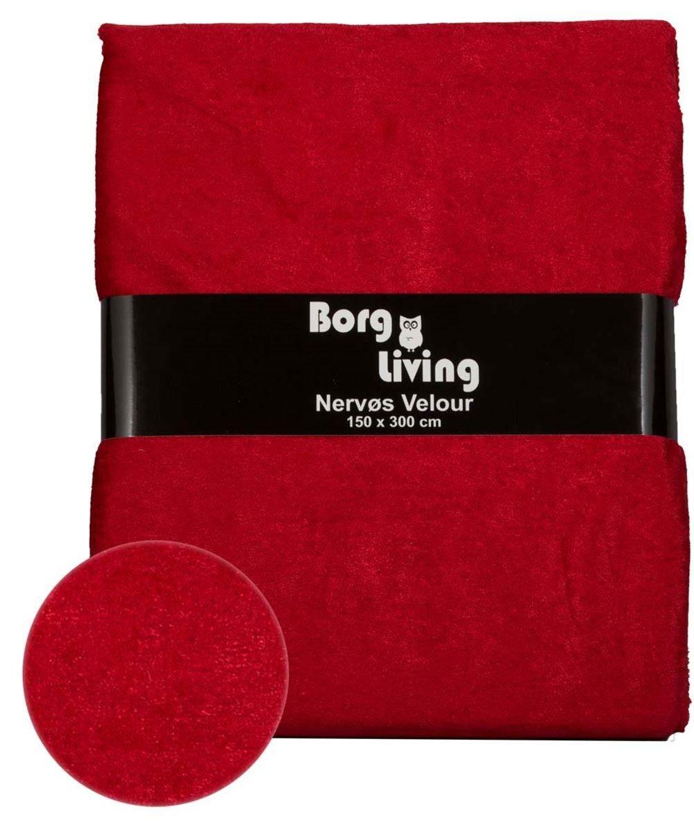 rødt sengetøj Nervøs Velour   Rød dug   Pakke med 3 meter velour dug rødt sengetøj