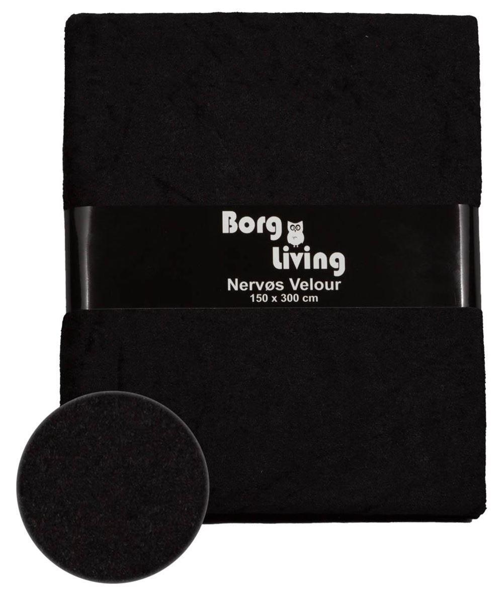 399845882ba Nervøs Velour - Sort dug - Pakke med 3 meter velour dug