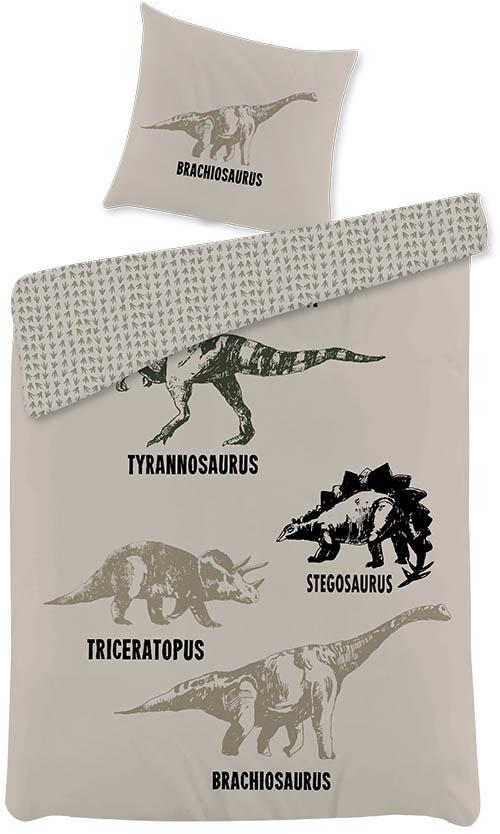 Picture of: Dinosaurer Sengetoj Med Fede Motiver 100 Bomuld 140×200 Cm