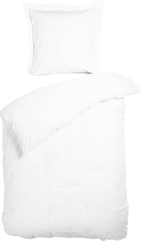 sengetøj hvidt Sengetøj   Night & Day   Rai hvid strib   140x220 cm sengetøj hvidt