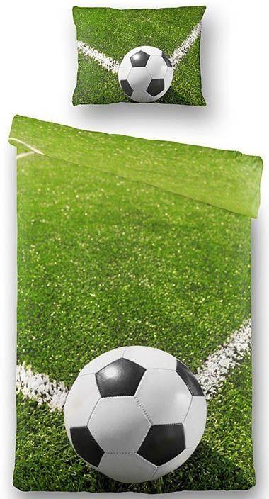 fodbold sengetøj Fodbold sengetøj 100% bomuldssatin 140x200 cm fodbold sengetøj