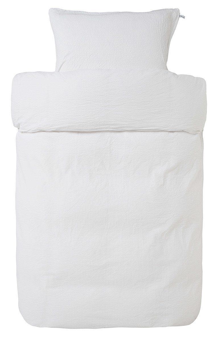Rørig Krepp hvidt sengetøj - Høie of Scandinavia baby sengetøj 100x140 cm WJ-95